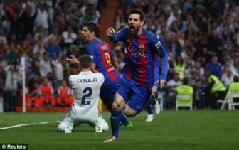 <b style='background-color:Yellow'>Lionel Messi</b> can 2 cot moc vi dai sau tran Sieu kinh dien