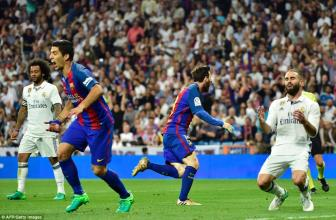 <b style='background-color:Yellow'>Real Madrid</b> 2-3 Barcelona: Sieu kinh dien goi ten Messi