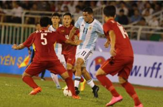 <b style='background-color:Yellow'>Duc Chinh</b> ghi ban danh du cho U20 Viet Nam truoc U20 Argentina
