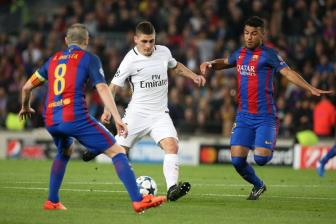 <b style='background-color:Yellow'>Barca</b> chi 100 trieu euro giai phong Marco Verratti khoi PSG