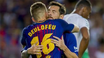 <b style='background-color:Yellow'>Barcelona</b> 2-0 Real Betis: Lionel Messi vo duyen, Deulofeu ruc sang