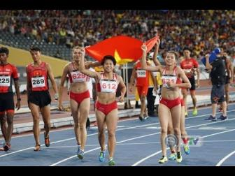 <b style='background-color:Yellow'>Dien kinh</b>: Khep lai SEA Games 29 thanh cong ruc ro voi 17 HCV