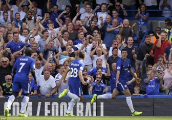 <b style='background-color:Yellow'>Chelsea</b> 2-0 Everton: Morata chung to gia tri