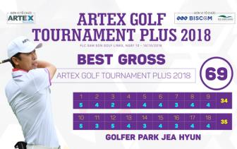 Golfer Park Jea Hyun vo dich <b style='background-color:Yellow'>giai Artex Golf Tournament Plus 2018</b>