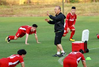 HLV Park Hang Seo khong muon co them chan thuong truoc them AFF Cup 2018