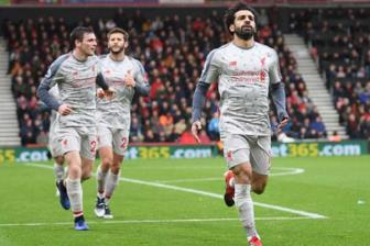 <b style='background-color:Yellow'>Bournemouth</b> 0-4 Liverpool: Salah dua The Reds len dinh