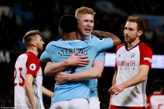 <b style='background-color:Yellow'>Man City</b> 3-0 West Brom: Dem ngay len ngoi cung Laporte