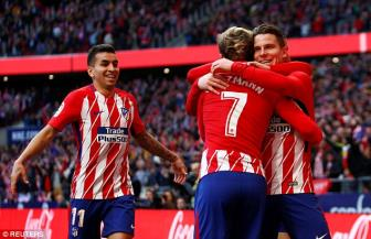 <b style='background-color:Yellow'>Diego Costa</b> lai ghi ban, Atletico Madrid tai lap khoang cach 7 diem voi Barca