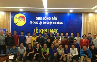Khai mac giai <b style='background-color:Yellow'>bong ban Ha dong</b> Super League 2018