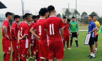 <b style='background-color:Yellow'>DT U19 Viet Nam</b> chot danh sach du Giai vo dich U19 DNA 2018