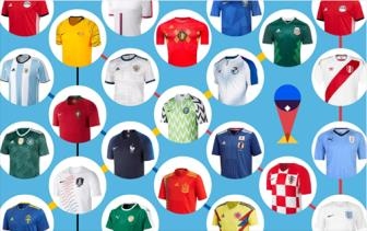 Top 10 ao dau dep nhat <b style='background-color:Yellow'>World Cup 2018</b>: Duc so 1
