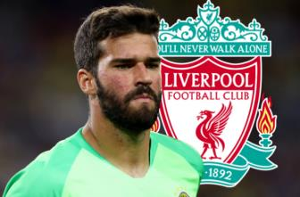 <b style='background-color:Yellow'>Liverpool</b> chi 67 trieu bang hoi mua thu mon Alisson Becker cua AS Roma?