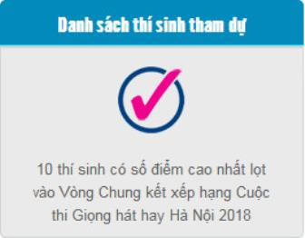 Danh sach 10 thi sinh vong chung ket cuoc thi 'Giong hat hay Ha Noi 2016'