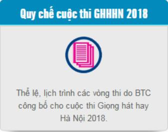 Quy Che Cuoc thi 'Giong hat hay Ha Noi 2018'