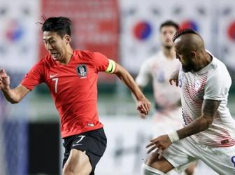 <b style='background-color:Yellow'>Han Quoc</b> 0-0 Chile: Son Heung-Min va Vidal mo nhat
