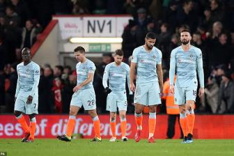 <b style='background-color:Yellow'>Bournemouth</b> 4-0 Chelsea: Ac mong Dean Court