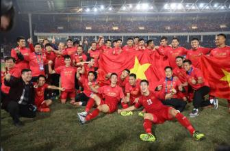 Doi tuyen Viet Nam vo dich <b style='background-color:Yellow'>AFF Cup 2018</b>: Xung danh the he vang
