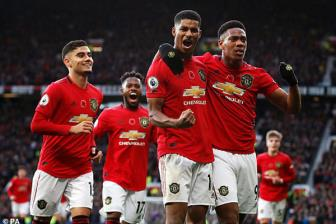<b style='background-color:Yellow'>Man Utd</b> 3-1 Brighton: 'Song sat' len tieng