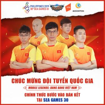 SEA Games 30: Doi tuyen Mobile Legends: Bang Bang Viet Nam vao Ban ket noi dung <b style='background-color:Yellow'>eSports</b>
