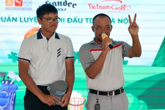 Golfer 14 tuoi, Nguyen Bao Long dan dau giai Golf FLC Hanoi Junior Golf Tour 2019 lan 3