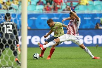 <b style='background-color:Yellow'>Colombia</b> 1-0 Paraguay: Bi loai cung khong oan