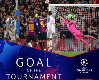 <b style='background-color:Yellow'>Messi</b> am giai ban thang dep nhat Champions League