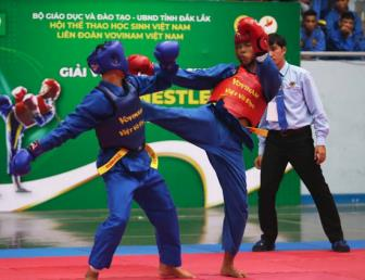 Giai <b style='background-color:Yellow'>Vovinam</b> hoc sinh toan quoc lan thu III nam 2019 - Cup Nestle Milo: TP.HCM gianh ngoi dau toan doan