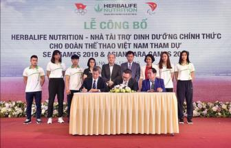Herbalife Nutrition  tiep tuc la nha tai tro cho Doan <b style='background-color:Yellow'>The thao Viet Nam</b> du SEA Games 30 va Asean Para Games 2020