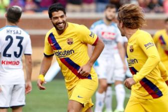 <b style='background-color:Yellow'>Griezmann</b> 'no sung', Barca nghien nat Napoli