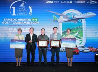 Golfer Han Quoc gianh giai Eagle dau tien o Bamboo Airways 18/8 Golf Tournament