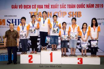 <b style='background-color:Yellow'>TPHCM</b> nhat toan doan giai Co vua tre xuat sac toan quoc tranh Cup SHB 2019