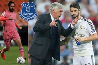 Ban tin 15/11. HLV Ancelotti co the dem Isco ve Everton