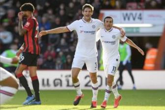 """<b style='background-color:Yellow'>Bournemouth</b> 2-2 Chelsea: """"Hut chet"""" nho Alonso"""