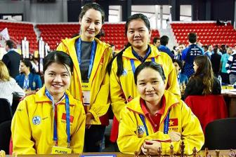 <b style='background-color:Yellow'>Viet Nam</b> cung bang Trung Quoc o Olympiad co vua