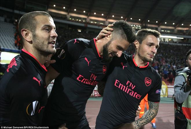 Vong bang Europa League: Arsenal toan thang, Everton gay that vong