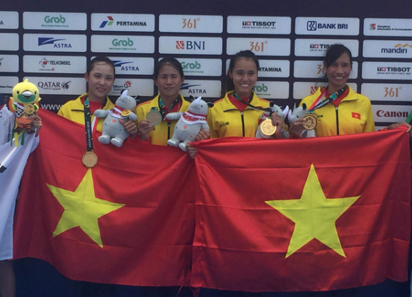 Viet Nam co HCV dau tien tai Asiad 2018 tu mon Rowing
